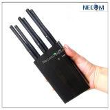 Portable 6 안테나 셀룰라 전화 방해기, GSM CDMA Dcs PCS 3G GPS WiFi VHF UHF 방해기