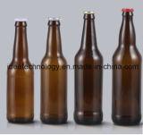 顧客用ガラスこはく色の空のビール瓶