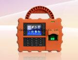 Портативные биометрические часы посещаемости времени фингерпринта RFID с GPRS (TFT500P)