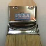 Brosse de radiateur (pinceau à poils blancs purs avec poignée de peuplier long et court, ferrule en acier inoxydable)