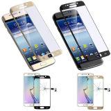 Protecteur d'écran en verre trempé de couverture complète pour Samsung Galaxy S6 Edge avec côtés courbes