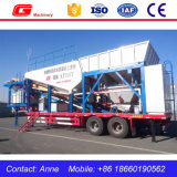 Mobile Concrete Batching plans Yhzs25 for halls