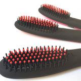 Raddrizzatore professionale dei capelli di 2016 nuovo Nasv con la spazzola che designa il pettine di raddrizzamento ionico del ferro della ceramica degli strumenti con la visualizzazione dell'affissione a cristalli liquidi