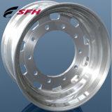 Il pezzo fucinato della rotella del camion borda i cerchioni materiali della lega di alluminio