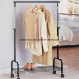 Vêtements en métal robuste réglable placard Hanger Rack en noir