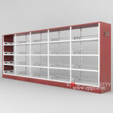 Estante de madera de acero de la caja de libro de los muebles de la biblioteca de escuela