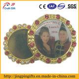 Divisa roja al por mayor del esmalte del emblema del metal del diamante de Bling