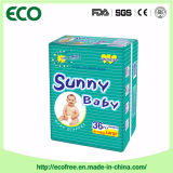 Ensolarado tecido descartável do bebê do OEM da classe um bom com absorção elevada