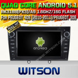 Carro DVD GPS do Android 5.1 de Witson para Peugeot 408 (2010-2011) /Peugeot 308 com sustentação do Internet DVR da ROM WiFi 3G do chipset 1080P 16g (A5634)