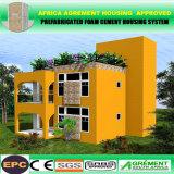 África asequible prefabricados Acuerdo aprobado Edificio Modular prefabricados Villa Chalet