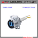 Dust Cover/Caps를 가진 LC Fiber Optic Connectors/Waterproof Fiber Optics Cable Connectors