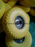 편평한 자유로운 트롤리 외바퀴 손수레 바퀴 PU 바퀴