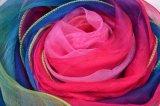 Lenço de seda impresso Digitas de Georgette para mulheres