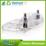 Organizador cosmético do armazenamento e da composição da grande capacidade com 15 compartimentos