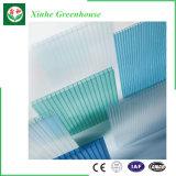 Serre chaude creuse enduite UV de feuille de polycarbonate de Twinwall