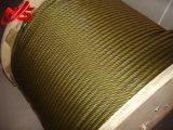 황금 윤활제 각자 색깔 6X36sw+Iwrc 철강선 밧줄