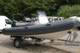 Bateau de pêche gonflable rigide de côte de canot automobile/fibre de verre d'Aqualand 18feet 5.4m (RIB535B)