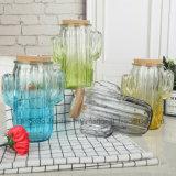 De gekleurde Vaas van het Lam van het Glas van de Cactus met Twee Handvatten