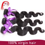 100%インドの人間の編むボディ波のバージン自然なカラー毛