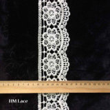 Tessuto ricamato di cucito floreale Eco L103 di tintura amichevole della guarnizione del merletto