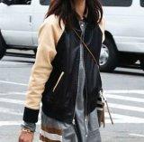 Casacos de beisebol de couro personalizado senhoras - Revestimento de couro genuíno com molho de inverno para mulheres
