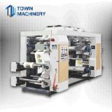Farben Flexo Drucken-Maschine der Geschwindigkeit-4 ausgerüstet mit keramischer Rolle