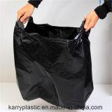 أسود [رسوبل] [ت-شيرت] صدرة كيس من البلاستيك لأنّ دكّان بقالة