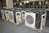 60deg c Dhwを使用してホームは80%力Cop5.32 220V 5kw 260L、7kw 300Lの9kw Tanklessの分割された空気ヒートポンプのハイブリッド太陽エアー・ヒーターを節約する
