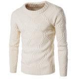 Normallackmens-runder Stutzen-Wolle-Strickjacke-Großverkauf