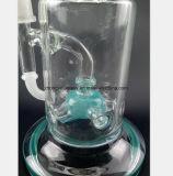 Filtre bleu de l'eau en verre de tuyau flexible du tabac de recyclage