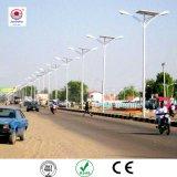 2018 Nouveau produit IP66 12V 24V 30W 60W 80W 100W l'énergie solaire éclairage de rue avec pôle