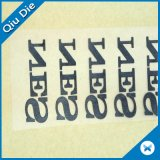 Nuevas escrituras de la etiqueta respetuosas del medio ambiente de la impresión de la transferencia del claro de Sryle para la ropa