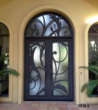 Augenbraue-oberste moderne Metallsicherheits-Vorderseite-Eisen-doppelter Eintrag-Tür