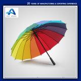 نخبة مطر [أوتومتيك-وبن] مظلة [فيبرغلسّ] قوس قزح مظلة مع مقبض طويلة