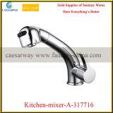 La singola maniglia d'ottone estrae il rubinetto del dispersore di cucina del Ce dello spruzzo