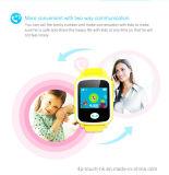 Montre de traqueur de l'écran tactile 2017 GPS avec le bouton de SOS