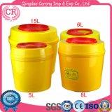 Gele Plastic Medische Scherpe Containers