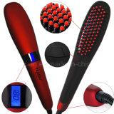 Top Sales Uso pessoal Nasv Digital Hair Straightener Pele e escova para cabelo elétrica Ionic Straight Hair Brush Display LCD