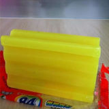 Zitrone-Duft weiß, gelbe Kleidung-Wäscherei-Seife