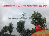 Riga di trasmissione di tensionamento di CC di Megatro 110kv Std torretta dell'acciaio