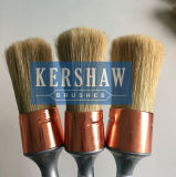 Brush rond (Paintbrush avec le brin blanc pur et le traitement en plastique, la brosse ronde)