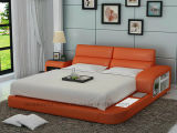 Lb8805 디자이너 가구 LED 빛과 저장 현대 침대