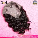 Peluca peruana del frente del cordón del pelo de la Virgen natural del pelo humano del 100%