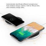 Металлические плоские 7,5 быстрое беспроводное зарядное устройство для Apple iPhone 8/8plus/X Китая на заводе для изготовителей оборудования