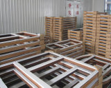 Fenêtre en bois en acier inoxydable inclinable et tournante pour mauvais temps