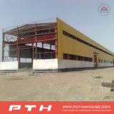 Almacén prefabricado de la estructura de acero del bajo costo del estándar de ISO