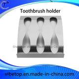 De Houder van de Tandenborstel van het roestvrij staal op Muur door Opgepoetst Gebeëindigd Chroom