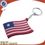 Price 낮은 Gifts Wholesale Custom 3D Soft PVC Keychain (FTPV2702A)