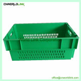 Pilha de venda quente Nest malha plástica frutas cesto de armazenamento de produtos hortícolas