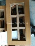 PVC Thermofoil Yijia смотрел на дверь неофициальных советников президента MDF стеклянную